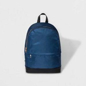 Navy Blue Nylon Dome Backpack